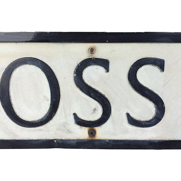 "English Metal ""Cross Street"" Street Sign - Image 2 of 3"