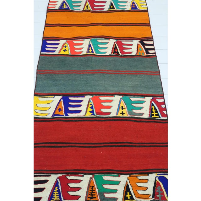 "Late 20th Century Vintage Turkish Multicolor Kilim Runner-2'9'x9'6"" For Sale - Image 5 of 13"