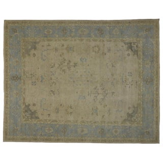 Modern Oushak Rug - 11′11″ × 15′1″ For Sale