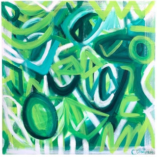 """""""Río"""" Abstract Painting by Christina Longoria For Sale"""