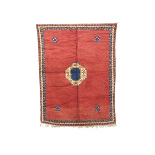 """1970s Boho Chic Boho Chic Ait Ouaghrda Moroccan Rug - 7'10"""" X 10'1"""" For Sale"""