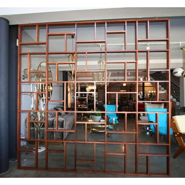 Mid-Century Modern Mid Century Modern Geometric Room Divider For Sale - Image 3 of 8