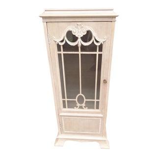 Antique Pedestal Column Side Cabinet For Sale
