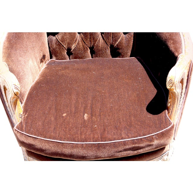 Vintage Mohair Velvet Chair - Image 4 of 10