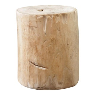 Birch Wood Tree Stump Base for Side Table or Stool For Sale