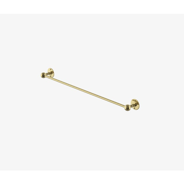 "Waterworks Brass Etoile 30"" Single Glass Towel Bar For Sale In New York - Image 6 of 6"