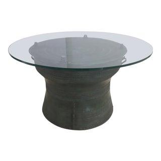 Asian Cast Bronze Rain Drum For Sale
