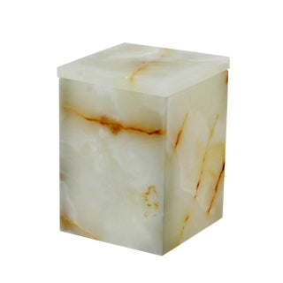White Marble Canister For Sale