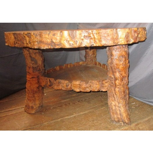 Rustic Dining Table with Inlaid Top For Sale - Image 5 of 6