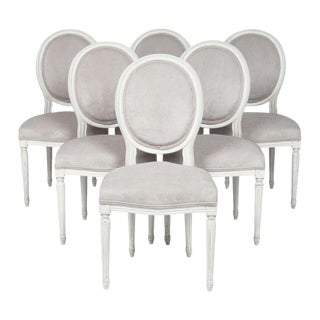 Set of Six Louis XVI Dining Chairs For Sale