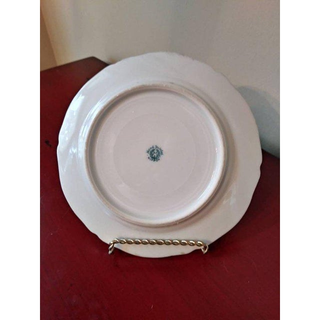 Antique French limoges hand painted plate with gold Moriage Art Deco trim. In beautiful condition, with absolutely no...