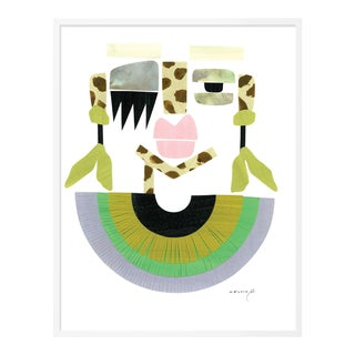 Meli by Melvin G in White Frame, Small Art Print For Sale