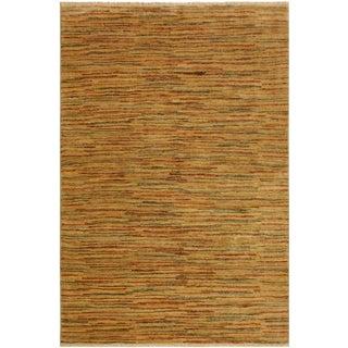 Gabbeh Wilhelmi Tan/Rust Wool Area Rug -4'0 X 5'11