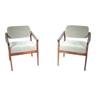Pair of Danish Modern Arm Chairs