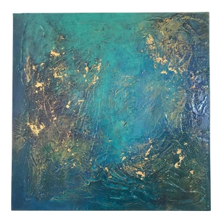 """Original Abstract Painting by Page Goss """"Gilded Luna I"""""""