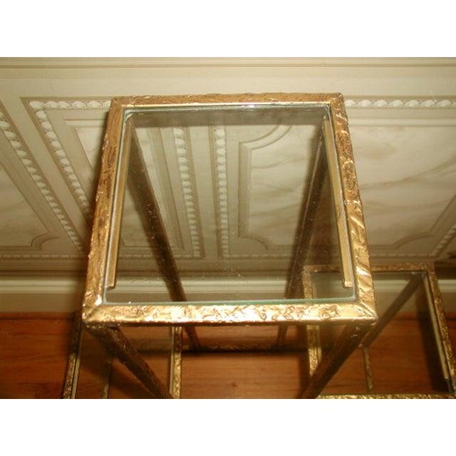 Gilt Metal & Glass 3 Tier Shelf Table - Image 3 of 9