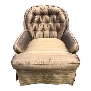 Mid-20thCentury Jim Thomson Silk Upholstered Slipper Chair