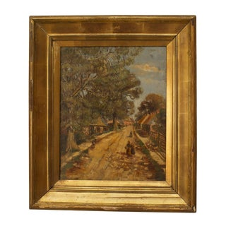 Victorian Impressionist Street Scene For Sale