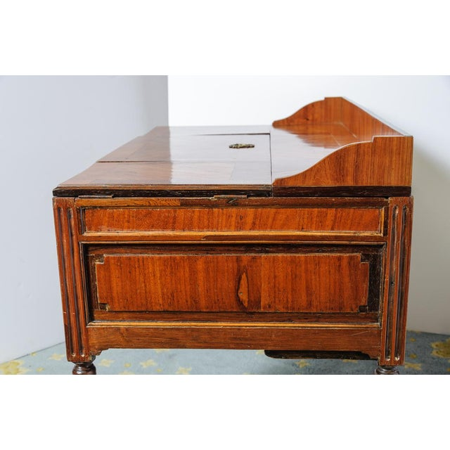 Louis XVI Walnut Valuables Cabinet Desk For Sale In West Palm - Image 6 of 11