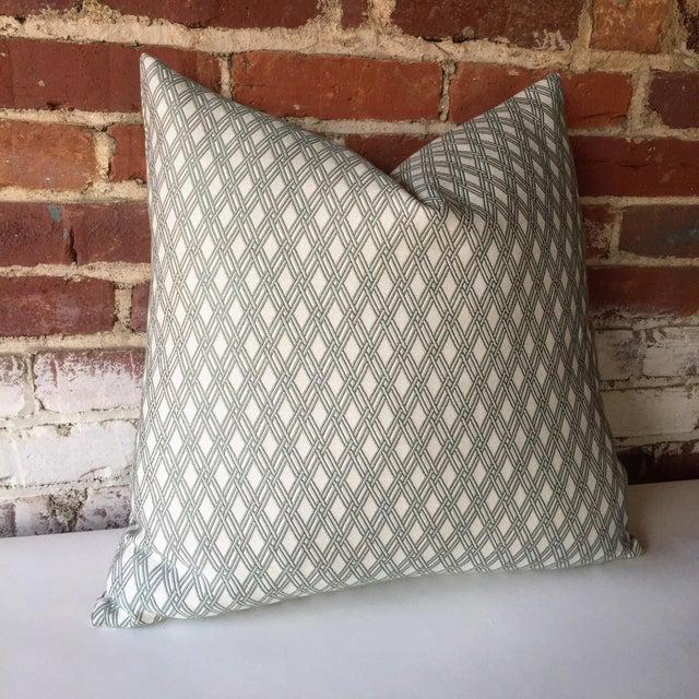 Robert Allen Sage Basket Weave Pillow Cover - Image 3 of 4