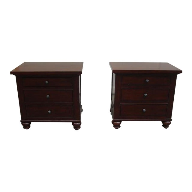 Restoration Hardware Camden Nightstands - A Pair For Sale