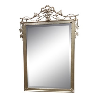 Friedman Brothers Silver Leaf Rectangular Mirror For Sale