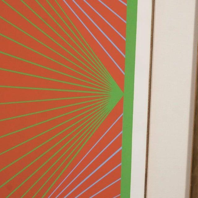 "Wood Richard Anuszkiewicz ""Diamond Chroma"" Screenprint in Colors, 1965 For Sale - Image 7 of 10"
