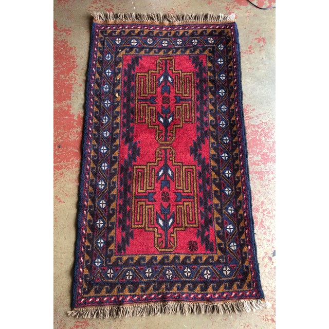 Antique Handmade Tribal Rug For Sale - Image 9 of 9