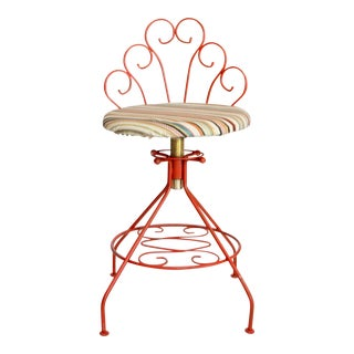 Red Adjustable Height Low Stool For Sale