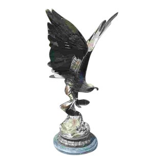 Mid 20th C. French Bronze Eagle Sculpture For Sale