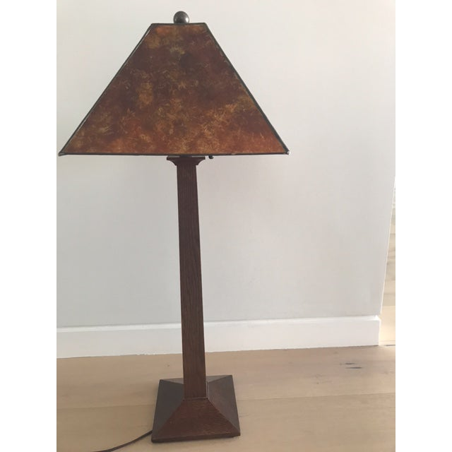 Stickley Mission Oak Table Lamp | Chairish