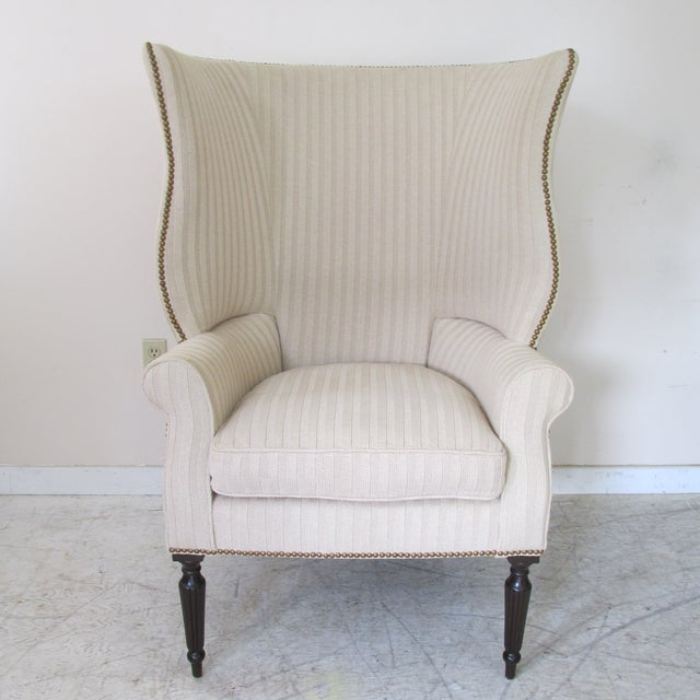 Contemporary Victoria Hagen Home ''Wainscott'' Wingback Chairs- A Pair For Sale - Image 3 of 10