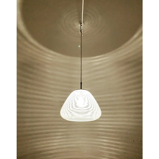 Mid-Century Modern Mid-Century Modern Glass Pendant Lamp by Wilhelm Wagenfeld for Peill and Putzler For Sale - Image 3 of 8