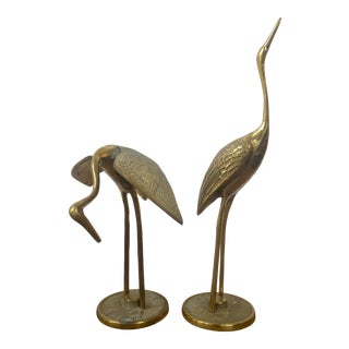 Mid Century Gatco Solid Brass Cranes - a Pair For Sale