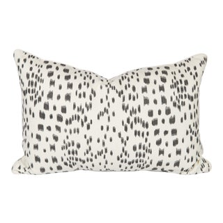 Black and Ivory Brunschwig & Fils Les Touches Lumbar Pillow For Sale