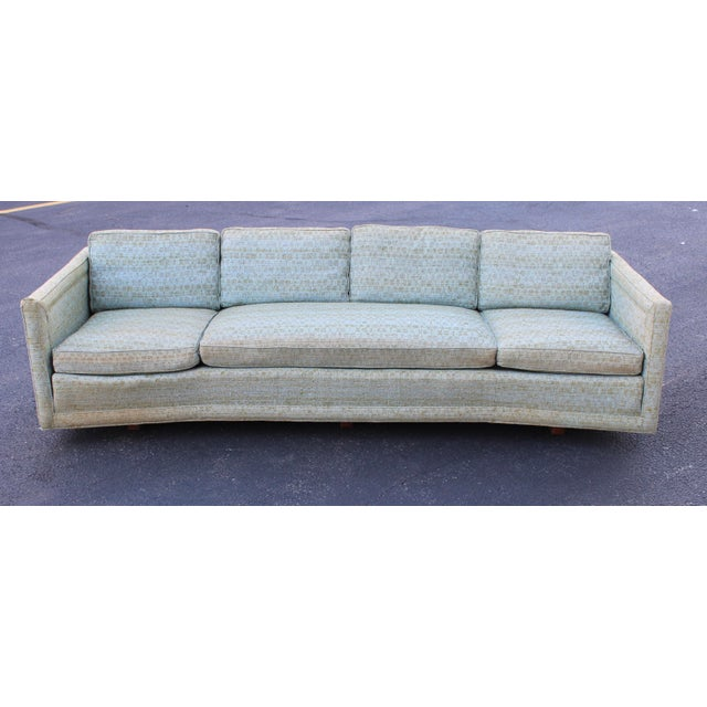 Mid-Century Modern Erwin Lambeth Curved Sofa For Sale - Image 3 of 8