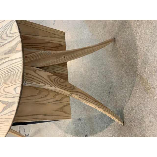 Kidney Biomorphic Shaped Oak Desk For Sale In Palm Springs - Image 6 of 13