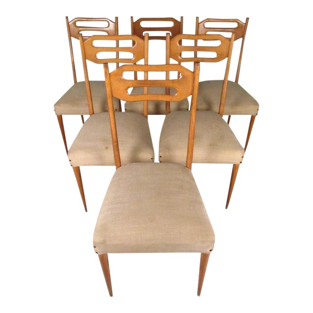 Sculptural Italian Modern Dining Chairs - Set of 6 For Sale