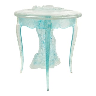 Vintage for Versace Acrylic Provincial Ice Table For Sale