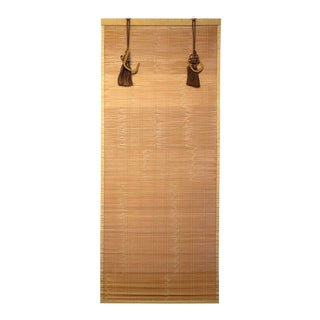 Japanese Sudare Split Bamboo Blind With Brocade Border For Sale
