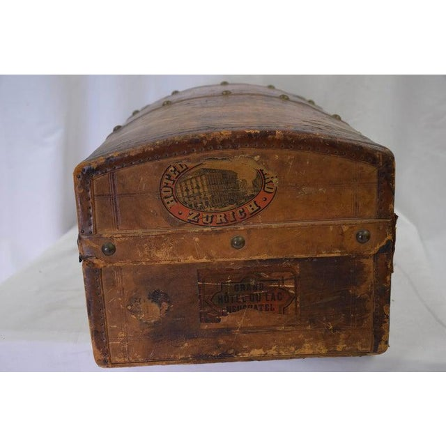 Antique Travel Dome Trunk For Sale - Image 12 of 13