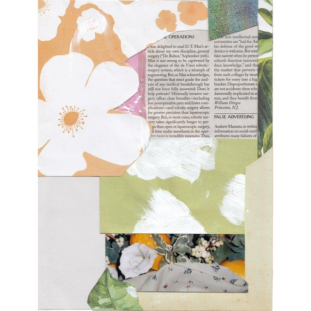 """Mess"" Abstract Floral Collage by Frances Sousa For Sale"