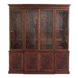 Image of 1990s Traditional Hickory Chair Co. 4 Door Mahogany Breakfront Bookcase For Sale