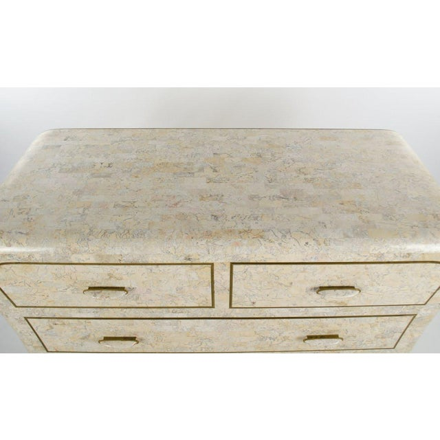 Traditional 1970s Vintage Maitland-Smith Tessellated Marble Lowboy Dresser For Sale - Image 3 of 13