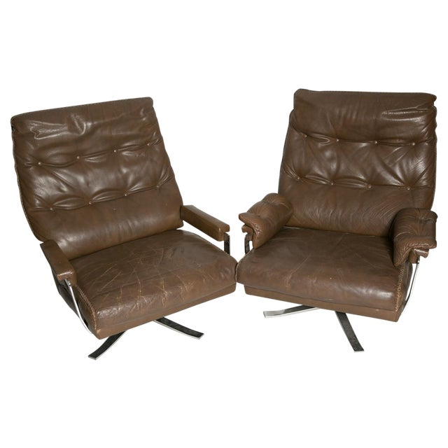 Arne Norell Leather Club Chairs - Set of 2 For Sale