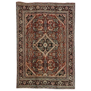 20th Century Rustic Luxe Persian Mahal Area Rug - 7′ × 10′2″ For Sale