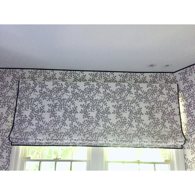 Galbraith and Paul Custom Ivy Roman Shade With Tape Trim For Sale - Image 4 of 4