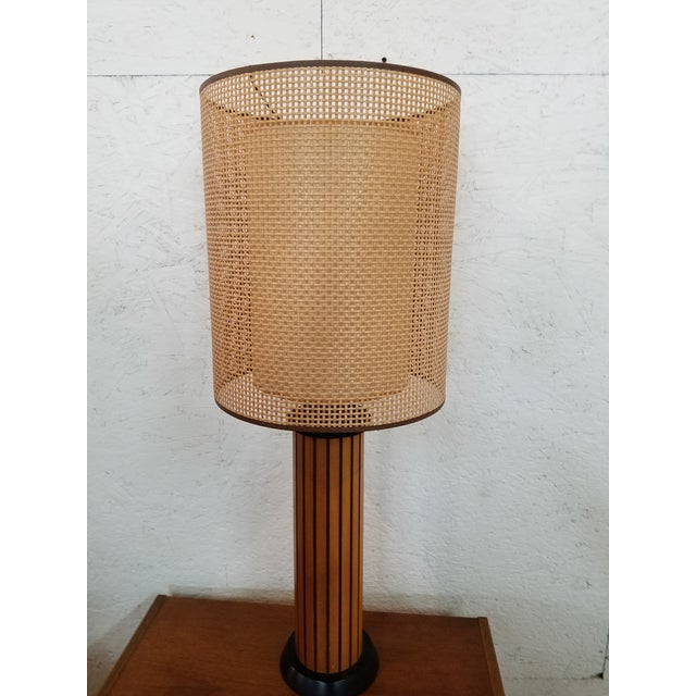 Mid-Century Modern Hans Wegner Wood Strip Lamps - A Pair For Sale - Image 3 of 5