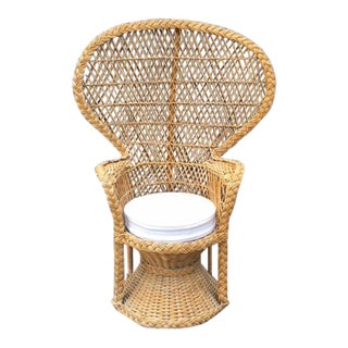Vintage Rattan Peacock Chair