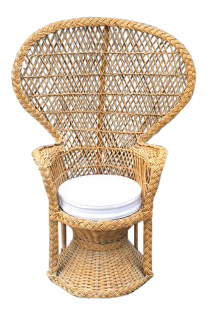 Vintage Rattan Peacock Chair For Sale